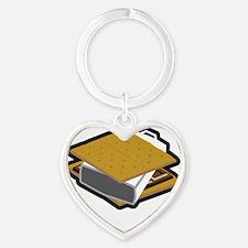 SmoreCowbellDk Heart Keychain