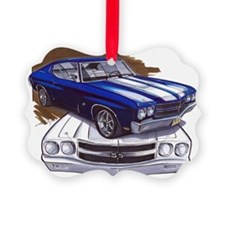 1970 Chevelle Blue-White Car Ornament