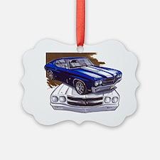 1970 Chevelle Blue-White Car Ornament