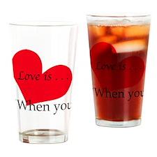 LOVE IS - NOELLE AGE 7 Drinking Glass