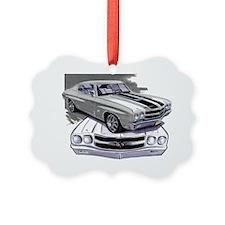 1970 Chevelle Grey-Black Car Ornament