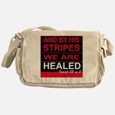 By his stripes we are healed Messenger Bag