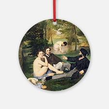 Dejeuner sur lHerbe, 1863 by Edouar Round Ornament