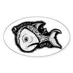 Jesse's Tree Fish Oval Sticker