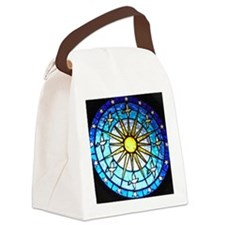 Dove Stained Glass Canvas Lunch Bag