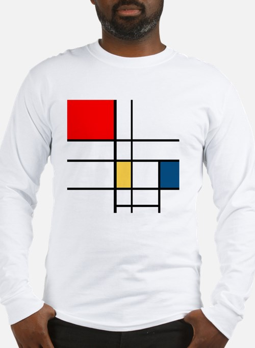 Mondrian_style Long Sleeve T-Shirt