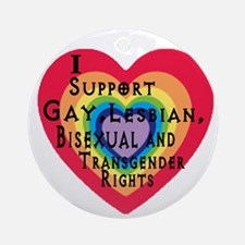ISupportGayRights Round Ornament