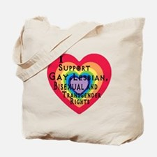 ISupportGayRights Tote Bag
