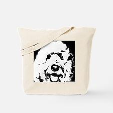 labradoodle_bw Tote Bag