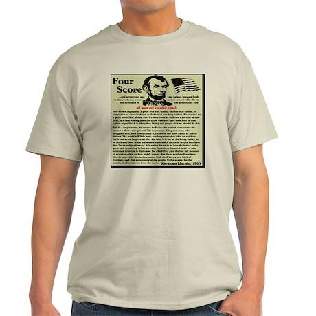 fourscorenew2 Light T-Shirt