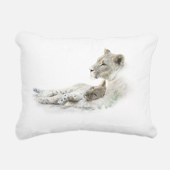 cub and mom4psd Rectangular Canvas Pillow