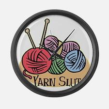 Yarn Slut Large Wall Clock