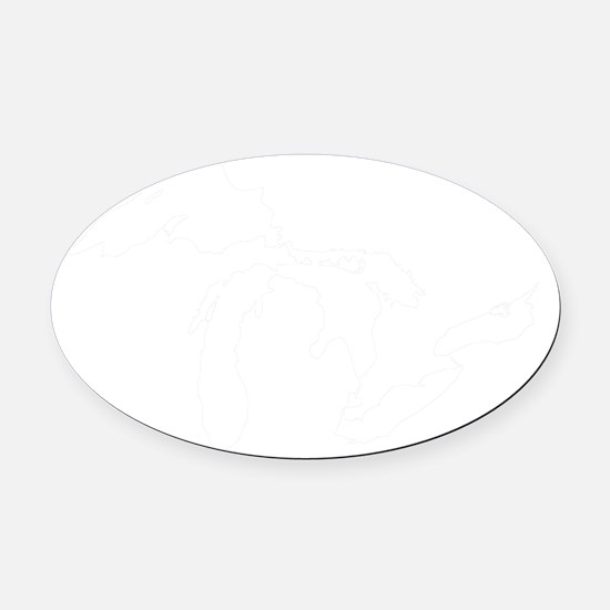 Mich_Map Oval Car Magnet