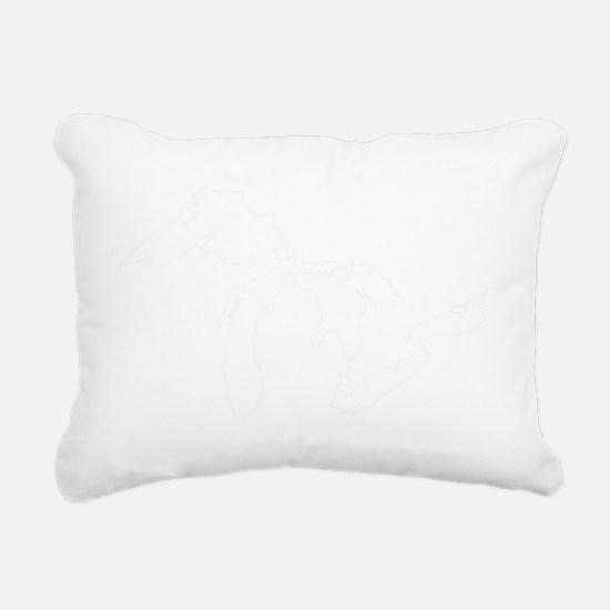 Mich_Map Rectangular Canvas Pillow