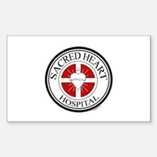 Sacred Heart Rectangle Decal