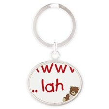 Awww ... lah with Teddy Oval Keychain