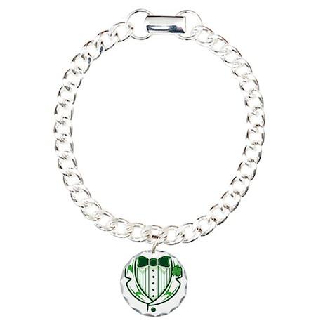 St Patricks DayTuxedo Charm Bracelet, One Charm