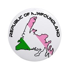 Republic of Newfoundland with Islan Round Ornament
