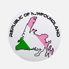 Republic of Newfoundland with Islan Round Ornament