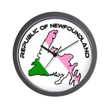 Republic of Newfoundland with Island an Wall Clock