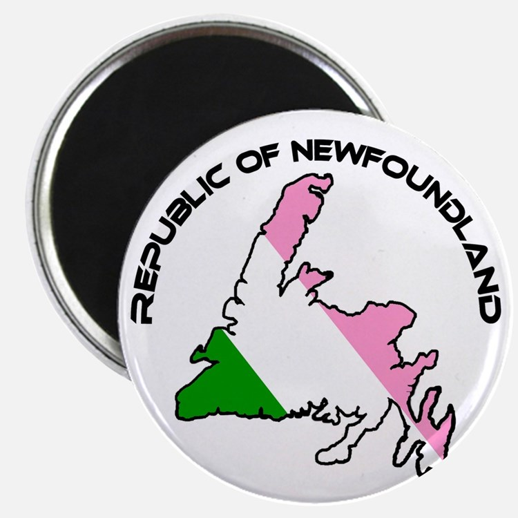 Republic of Newfoundland with Island and ar Magnet