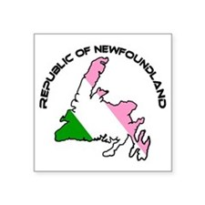 "Republic of Newfoundland wi Square Sticker 3"" x 3"""