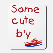Some cute by text with newfoundland traw Mousepad