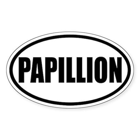 Papillion Oval Sticker