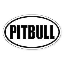 Pitbull Oval Bumper Stickers