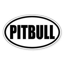 Pitbull Oval Stickers