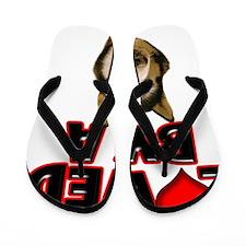 Loved by a Husky Flip Flops