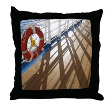 Sunset on the deck. Throw Pillow