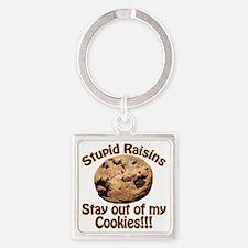 StupidRaisins Square Keychain