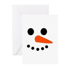 Snowman Face Greeting Cards (Pk of 20)