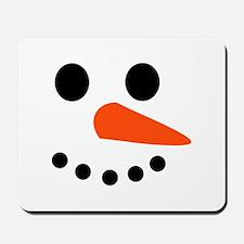 Snowman Face Mousepad