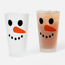 Snowman Face Drinking Glass