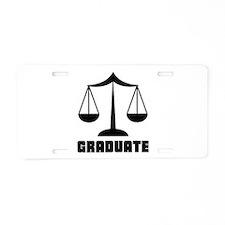 Law School Grad Class 2012 Aluminum License Plate