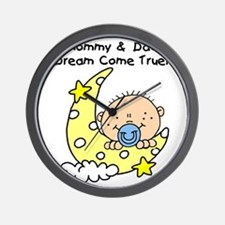 MOMMYDADDYDREAMboy Wall Clock