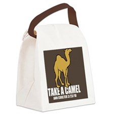 Camel Btn2 Canvas Lunch Bag
