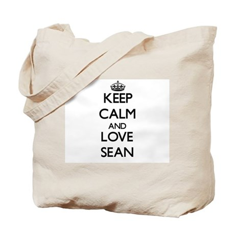 Keep Calm and Love Sean Tote Bag
