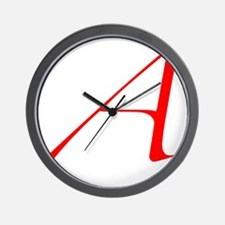 Scarlet Letter - trans Wall Clock