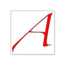 "Scarlet Letter - trans Square Sticker 3"" x 3"""