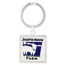 Junier Moon Farm Logo - color no u Square Keychain