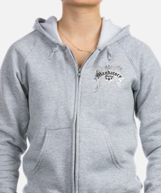 Mandatory_Metal_Crown_Wings_Whi Zip Hoodie
