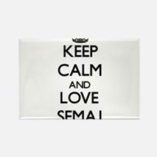 Keep Calm and Love Semaj Magnets