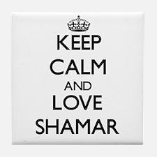 Keep Calm and Love Shamar Tile Coaster