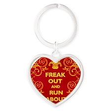 Freak Out Clock 2 Heart Keychain