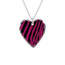 zebra stripe hot pink Necklace