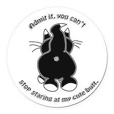 Admit it Cat Butt Round Car Magnet