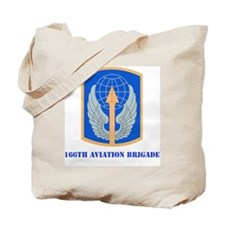 SSI - 166th Aviation Brigade with text Tote Bag